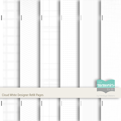 Cloud White Designer Refill Pages