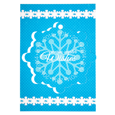 5 x 7 Snowflake Pop-out Card