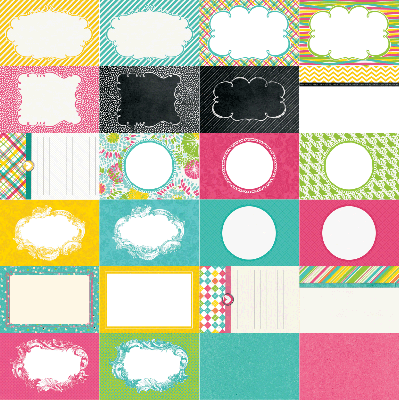 Party Brights by Katie Pertiet Designer Journal Cards