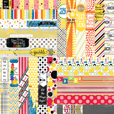 "It's a Kid's World by Lauren Hinds 2"" Border Strips - Toddler and Magical Vacation"