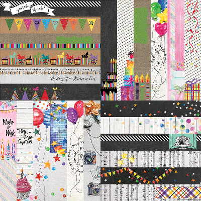 "Everyday Birthday by Lauren Hinds 2"" Border Strips"