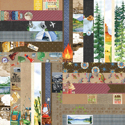 "The Great Outdoors by Lauren Hinds 2"" Border Strips"