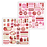 The Love Collection Accent Stickers by Katie Pertiet