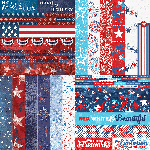 "Red, White, & Beautiful by Katie Pertiet 2"" Border Strips"
