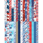 Pocket Red, White, & Beautiful Border Strips by Katie Pertiet