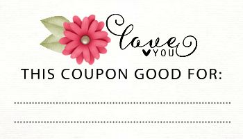 Mother's Day coupon cards