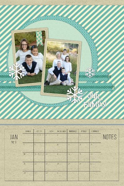 2018 Simple Scrapbook Calendar