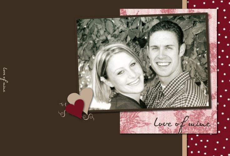 Love of Mine Basic Template 7x5 book