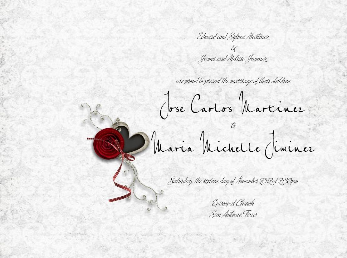 red rose wedding guest book