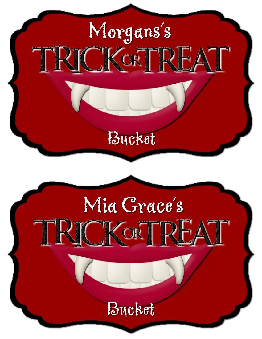 Vampire Trick or Treat Buckets