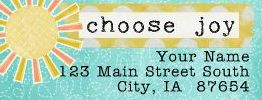 Choose Joy Address Label