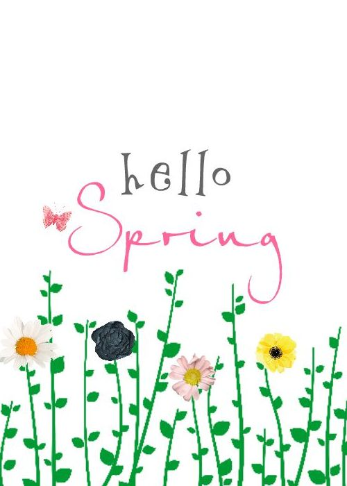 Hello Winter/Spring - Decor Card