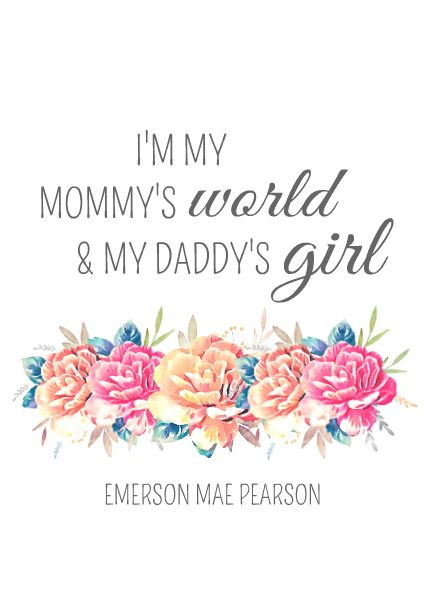 Mommy's World, Daddy's Girl