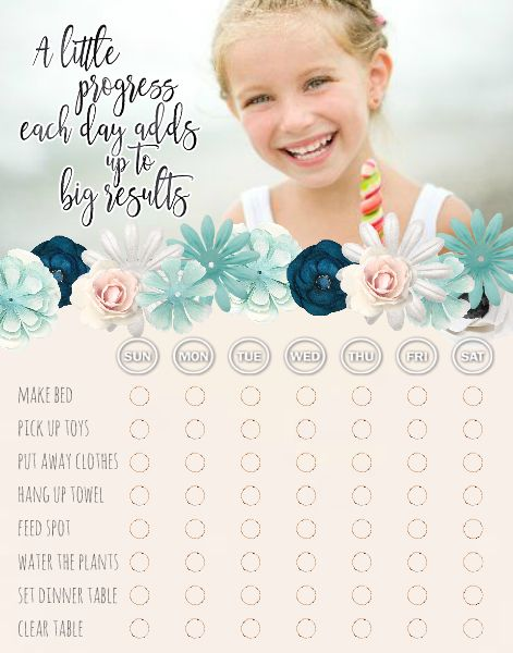 Classy Chore Chart - Floral