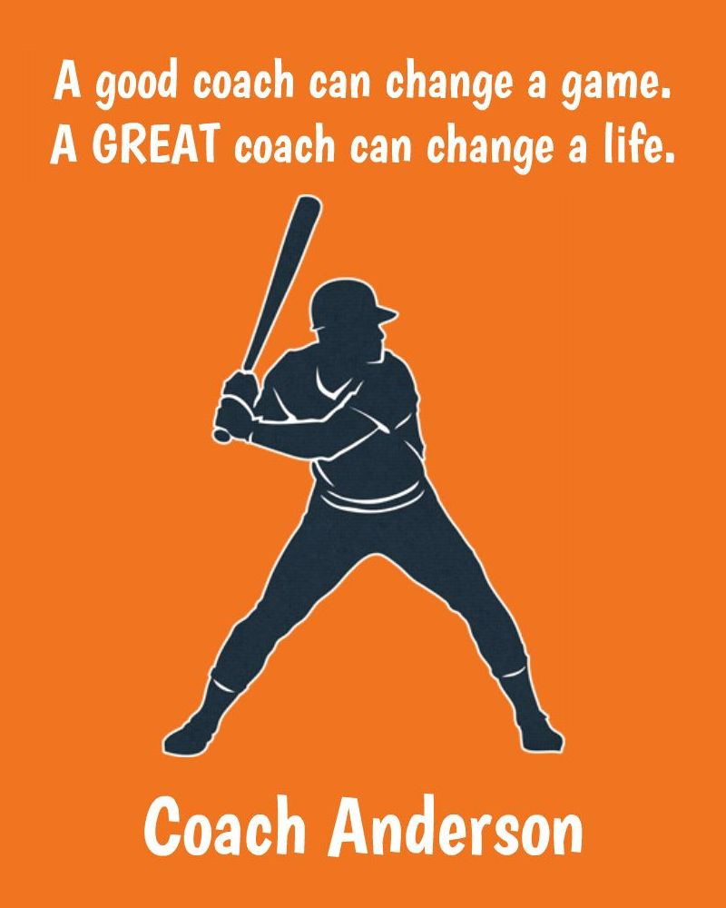 A Great Coach - Baseball
