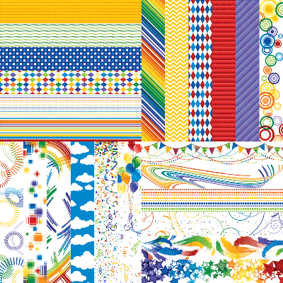 Playful Primary Designer Border Strips