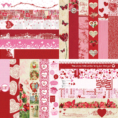 The Love Collection by Katie Pertiet Designer Border Strips
