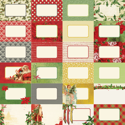 Joyous Noel by Katie Pertiet Journal Cards