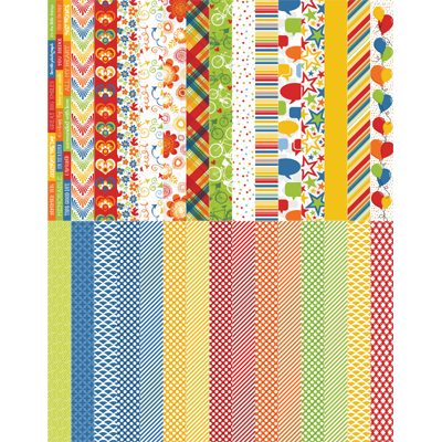 Pocket Primary Border Strips by Katie Pertiet