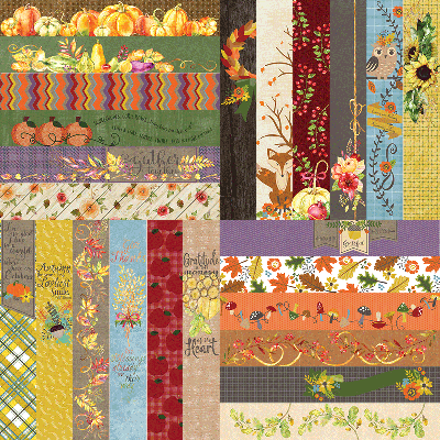 "All About Fall by Lauren Hinds 2"" Border Strips: All About Fall"