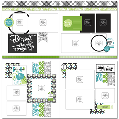 Tropical Blooms Page Layout Kit