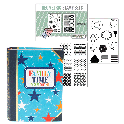 January Pocket Kit Geometric Stamp Bundle