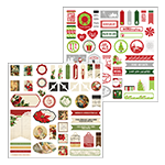 Christmas Joy Accent Stickers by Katie Pertiet