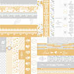 Wedded Bliss by Katie Pertiet Border Strips