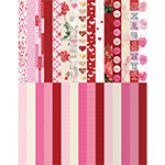Pocket Love Border Strips by Katie Pertiet