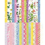 Pocket Floral Flourish Border Strips by Katie Pertiet