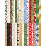 Pocket Joyful & Triumphant Border Strips by Lauren Hinds